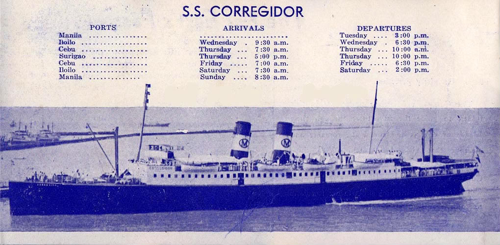 SS Corregidor photo provided by Chad Hill for the Philippine Diary Project