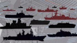 Cover of Maritime Review Issue# 2016-3 depicting various naval ship designs.  Cover design by: Jay Agustin