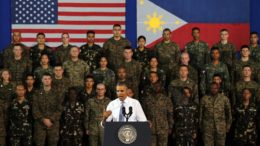 US President Obama speech to US and Filipino soldiers at Fort Bonifacio, Taguig