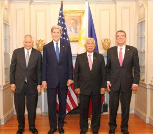 Albert Del Rosario, John Kerry, Voltaire Gazmin, Ashton Carton