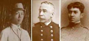 Gen. Emilio Aguinaldo, Admiral George Dewey, and Col. Jose Leyba